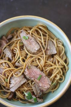 Week of Menus: Steak and Noodle Stir Fry: When the days are long and they just get longer