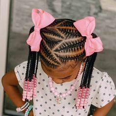 Little Girls Natural Hairstyles, Toddler Braided Hairstyles, Toddler Braids, Black Kids Hairstyles, Baby Girl Hairstyles, Braids For Kids, Toddler Hair, African Hairstyles For Kids, Kid Braids