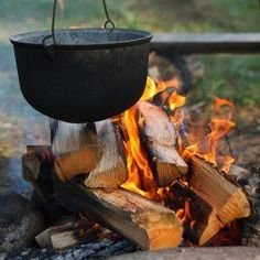 Nothing like using a cast iron pot or kettle when cooking for a crowd!  Anyone remember the Forest Park Fish fry?