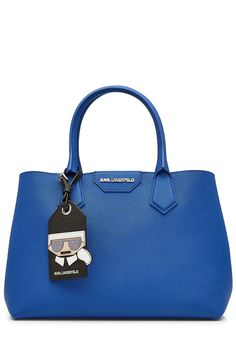 KARL LAGERFELD Leather Tote. #karllagerfeld #bags #leather #hand bags #tote #
