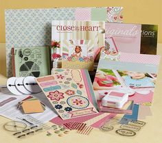 """Current Spring/Summer 2013 Close To My Heart Essentials Consultant Kit (retail of $155)!! Join My """"From the Heart Embellishers"""" Team Today for Only $49!! Email me at keeleyskreations.gmail.com for more information or check out my blog: www.keeleyskreations.blogspot.com."""