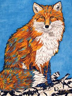 Friendly Fox ~ by Kendahl Jan Jubb Colorful Animals, Cute Animals, Friendly Fox, Koi Painting, Bear Paintings, Fox Spirit, Fox Illustration, Muse Art, Nature Artwork