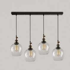 Industrial Style 4 Light Multi Light Pendant with Black Canopy