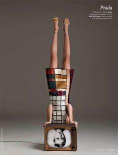 twiggy and Prada's mondrian influence dress