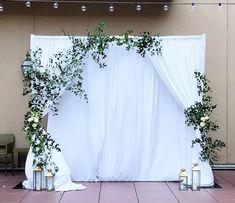No hay descripción de la foto disponible. Church Wedding, Wedding Gate, Diy Wedding, Green Wedding, Wedding Ceremony, Wedding Engagement, Wedding Venues, Pipe And Drape Backdrop, Wedding Trends