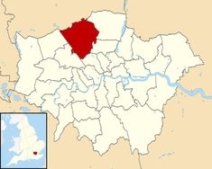 Barnet shown within Greater London Greenland Travel, London Boroughs, Barnet, Greater London, Croydon, Philippines Travel, Blog, World