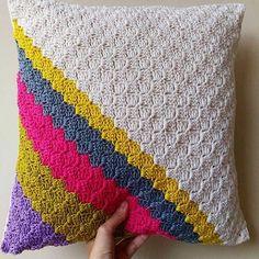 Repost. Loving this #crochet cushion cover by @crochetbyani