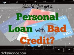 Is it advisable to get a personal loan even if you have bad credit?Here's what you need to know! Debt, Debt Payoff #Debt