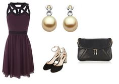 A winter wedding outfit with Ecksand yellow diamond pearl earrings