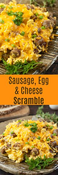 Easy Sausage, Egg, and Cheese Scramble recipe is a tasty combination of your favorite breakfast foods for a hearty weekday morning or Sunday family breakfast/dinner! @Johnsonville #ad #breakfast #brunch