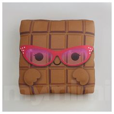 Food Pillow Toy Chocolate Pillow Chocolate Bar Throw by mymimi, $14.00