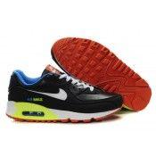 best service 3f182 082c8 Nike Air Max 90 Men Trainers Black White Orange
