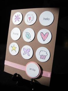 Bitty Basics; flower, coffee cup, hello, thanks, leaf, heart, star, butterfly, cupcake, smile