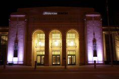 Purple Lights Site Visit, Centre, Exterior, Lights, Mansions, Architecture, House Styles, Image, Purple
