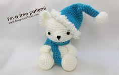 Crochet Bear Christmas Bears Hat and Scarf Pattern ~ Amigurumi To Go Crochet Amigurumi, Crochet Teddy, Crochet Bear, Cute Crochet, Crochet Crafts, Crochet Dolls, Crochet Projects, Crochet Panda, Crochet Animals