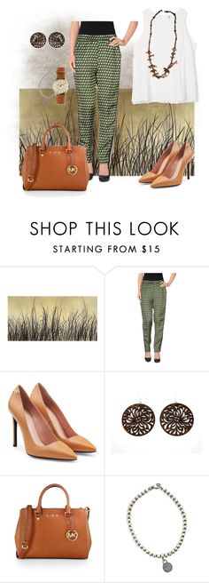 """Summer safari"" by marijime on Polyvore featuring moda, Leftbank Art, Suoli, Roland Mouret, MICHAEL Michael Kors, Tiffany & Co., J.Crew, WorkWear, Spring y outfit"