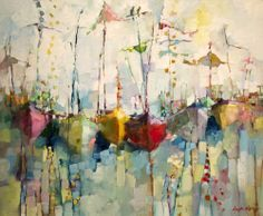 Image result for abstract painting of boats