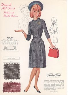 A sweetly simple, timelessly lovely mid-1960s frock. #vintage #1960s