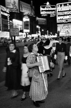by Édouard Boubat  Times Square, New York City, 1953.