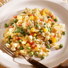 Pasta Salads Under 300 Calories  | Confetti Pasta Salad | MyRecipes.com