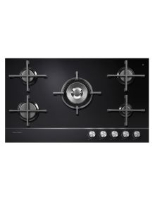 Fisher & Paykel Gas Cooktop - This five burner gas cooktop is one of the award-winning Gas on Glass series, featuring a defining polished metal trim, black reflective glass control panel and black ceramic glass cooking zone. Laundry Appliances, Home Appliances, Apple Store Shop, Digital Watch Face, Cooker Hobs, Home Theater Tv, Kitchen Cooker, Home Appliance Store, Domestic Appliances