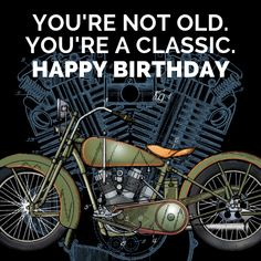 """31 """"Happy Birthday"""" Motorcycle Memes, Quotes, & Sayings // BAHS Happy Birthday Biker, Happy Birthday Logo, Sister Birthday Funny, Funny Birthday Message, Happy Birthday Wishes For Him, Motorcycle Birthday, Birthday Congratulations, Happy Birthday Greetings, Funny Birthday Cards"""