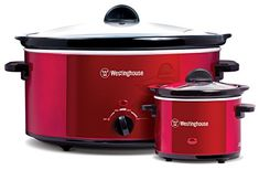 Westinghouse WSC801RD 8-Quart Slow Cooker with matching 0.6-Quart Sauce Warmer – KITCHEN APPLIANCES