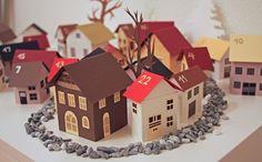 адвент-календарь домики своими руками