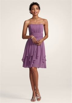 3 of my 5 are wearing this dress, in the color shown which is WisteriaBridesmaids!!!