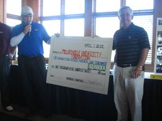 Golf coach Scott Vandegrift participated in a golf scramble to raise money for the Todd Myers Memorial Scholarship.