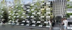 Galería de Satellite Architects diseña una fachada temporal fusionando elementos naturales y artificiales - 2