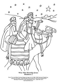 wise men coloring page.html