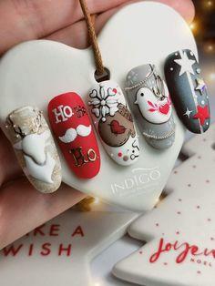 Cute Christmas Nails, Xmas Nails, Neon Nails, Holiday Nails, Pastel Nails, Love Nails, Pretty Nails, Acrylic Nails, Nail Art Noel