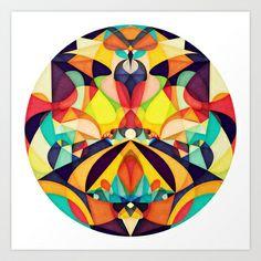 Poetry Geometry Art Print by Anai Greog - $16.00