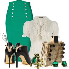 Emerald and Gold, created by shuchiu on Polyvore