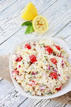 Chicken Corn Tomato Pasta Salad - Harmons Blogger | One Sweet Appetite
