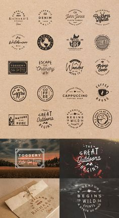Find tips and tricks, amazing ideas for Retro logos. Discover and try out new things about Retro logos site Logo Branding, Branding Design, Logo Minimalista, Typographie Logo, Coffee Shop Logo, Badge Template, Marken Logo, Vintage Logo Design, Vintage Logos
