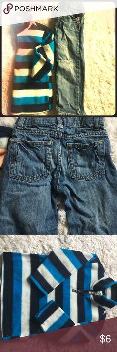 🛍 2 piece bundle!! Quarter zip sweater and denim Boys destructive denim and a super soft glacier fleece! Matching Sets