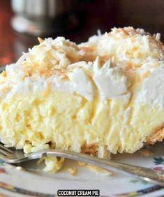 OLD FASHIONED COCONUT CREAM PIE – Easy Recipes