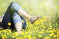 The most effective way to get grounded again is to get your bare feet in the grass.  (Brian A Jackson/iStock)