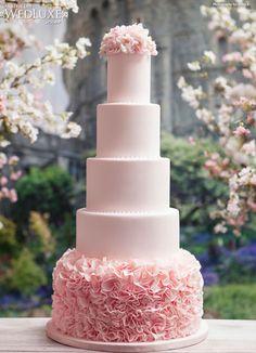 luxury-blush-pink-wedding-cake #weddingidea, #partydesigner, #partytheme, #weddingceremony