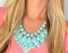 Teardrop Bubble Necklace   SexyModest Boutique