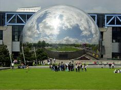 The Geode imax theatre, Paris by Archigeek, via Flickr