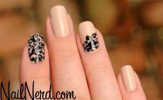 Nail Nerd (nail art for nerds) » Nude Filigree Nails