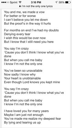 Sam Smith Lyrics Im Not The Only One Affair Broken Vow