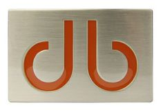 DB Orange Infill Buckle by Druh Belts.  Buy it @ ReadyGolf.com