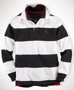 Ralph Lauren Kids Shirt, Little Boys Stripe Rugby Polo - Kids Shirts - Macy's