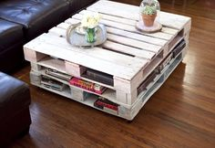 You can make a DIY coffee table with rustic wooden pallets you can put over glass on the wooden pallets . you could be made a brand new DiY pallet coffee table Indoor Furniture Design, Pallet Furniture Designs, Wooden Pallet Furniture, Pallet Designs, Wooden Pallets, Furniture Projects, Diy Furniture, Pallet Ideas, Pallet Benches