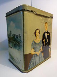 Queen Elizabeth II Coronation Commemerative TEA Caddy   eBay