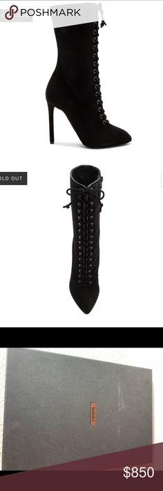 Yeezy Season 3 lace up suede boots Brand new! Tags and original packaging included. Yeezy Shoes Lace Up Boots